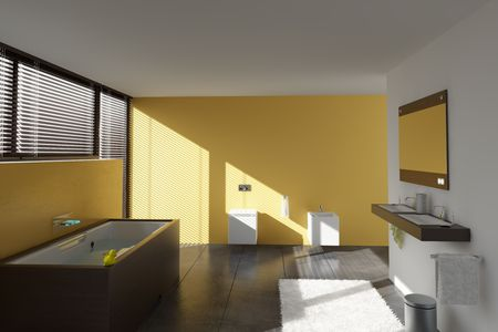 modern bathroom interior (3D rendering) Stock Photo - 5961305
