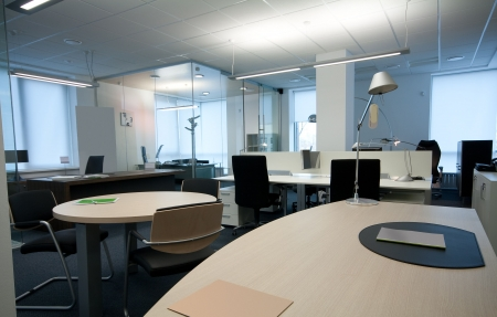 glass partition: modern office interior ( photo )