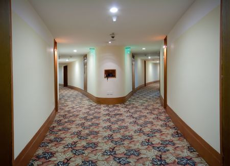 clean carpet: modern corridor interior ( photo ) Stock Photo