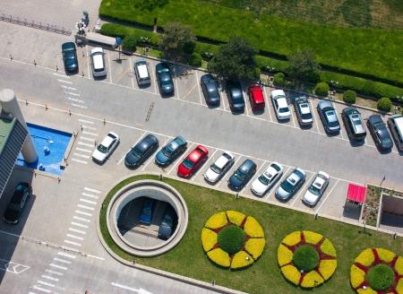 voiture parking: stationnement beau rythme photo du haut