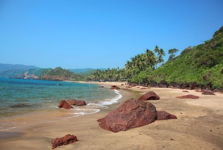 beautiful tropical sand wild beach (photo) photo