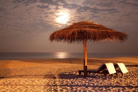 the sunset beach landscape photo
