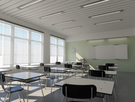 salle de classe: l'int�rieur de la salle de classe (rendu 3D)