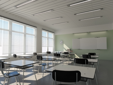 aule: the interior of classroom (3D rendering)