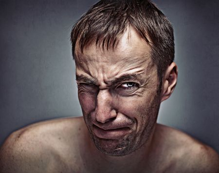 mens effort expression portrait photo