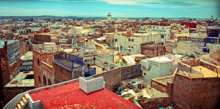 birdeye: old arabic city Essaouira (Morocco) photo Stock Photo