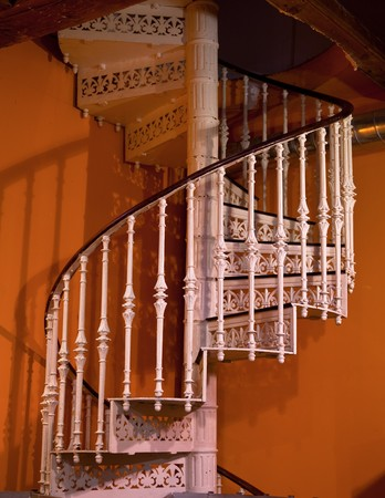 Ornate Spiral Staircase Indoor Photo Stock Photo   8168480