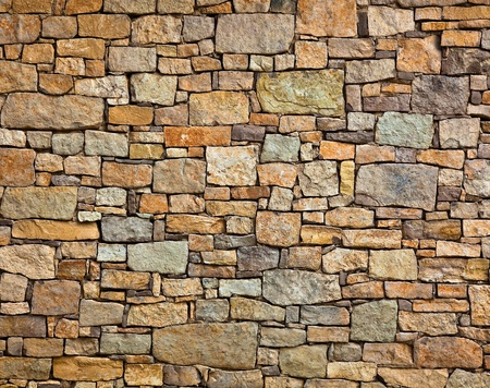 pared rota: Fondo de foto de textura de muro de piedra Foto de archivo