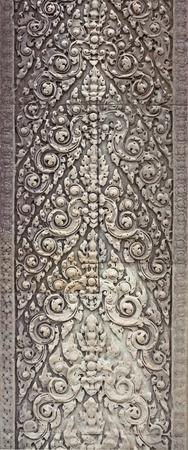 apsara: Bas-relief fragment, ancient temple of Hinduism. Angkor Wat, Cambodia.