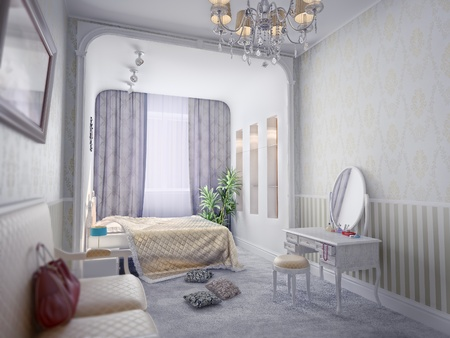 modern luxury bedroom inter (computer generated)  Stock Photo - 9863005