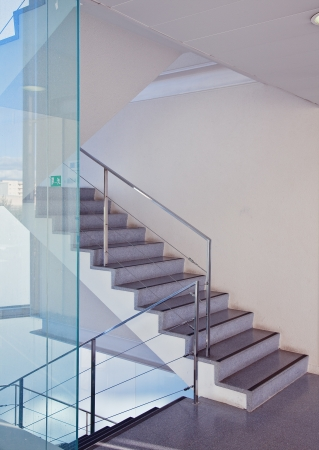 mall interior: modern interior with stair
