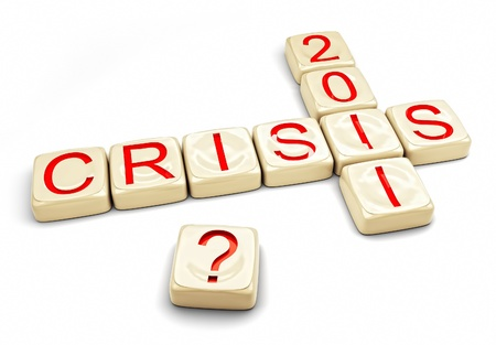 crisis of 2012 concept (computer generated) photo