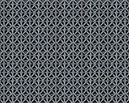 screen partition: antique cross pattern iron lattice phote