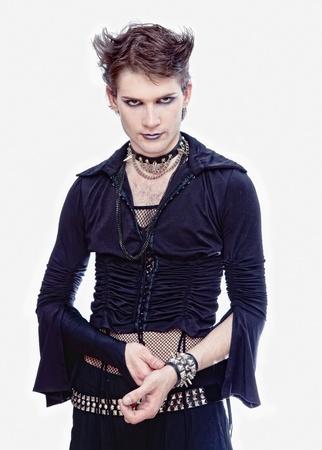 goth-style man isolated photo photo
