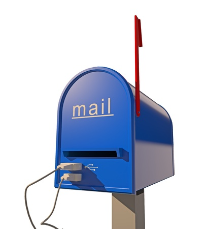 metal mailbox: mailbox with USB port (3D concept)