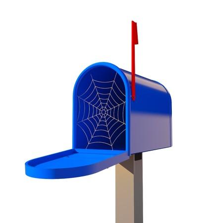 untouched: cobwebby mailbox (3D concept illustration)