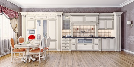 Luxury kitchen interior photo