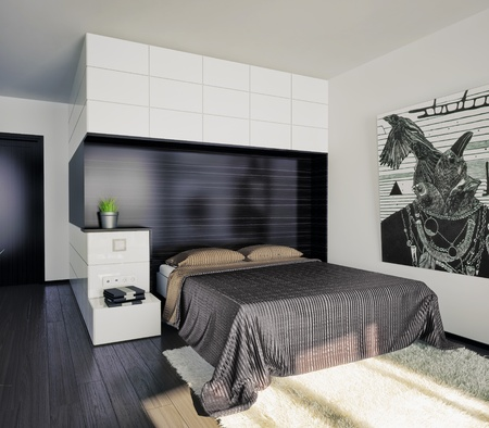 modern bedroom interior  illustration