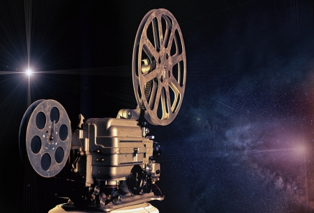 projector: cinema - machine of dreams  illustrated concept