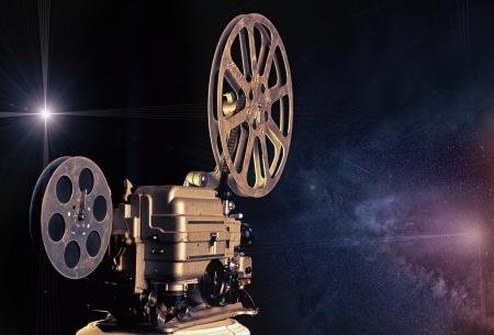 movie reel: cinema - machine of dreams  illustrated concept