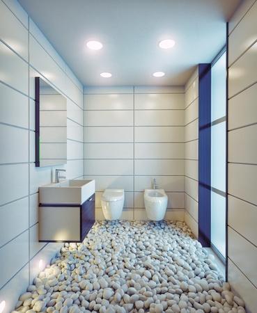 modern bathroom concept  illustration Stock Illustration - 89546136