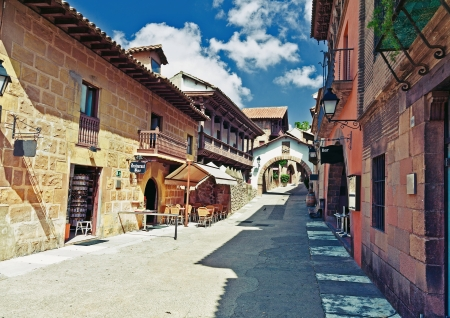 northern spain: Poble Espanyol  traditional architectural complex  in Barcelona, Spain