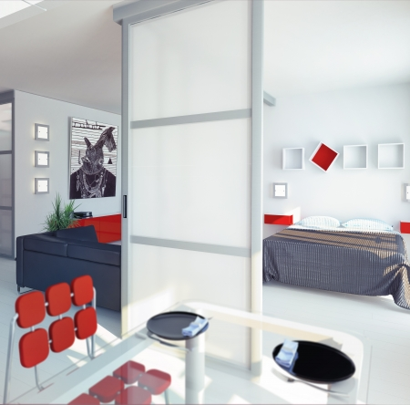 penthouse: modern style apartment concept