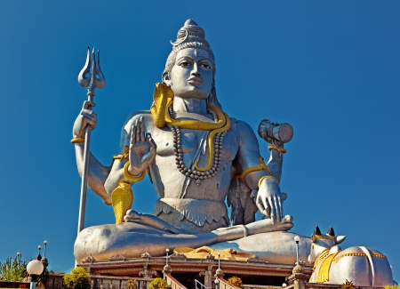 karnataka: Statue of Lord Shiva in  Murudeshwar Temple in Karnataka  India