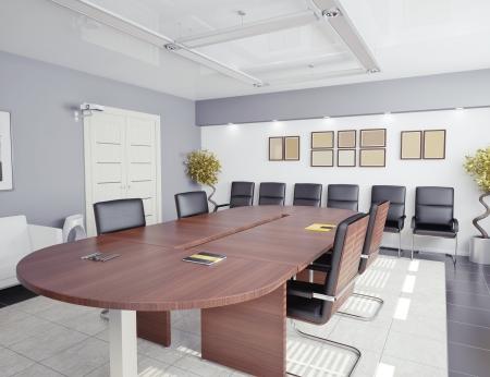 office lighting: modern office interior  3D rendering