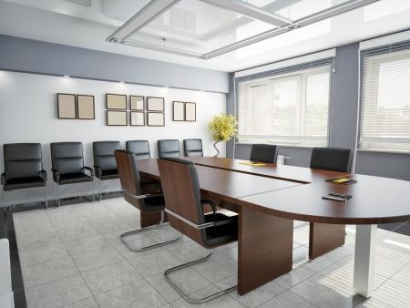 stores: de bureaux moderne int�rieur de rendu 3D Banque d'images