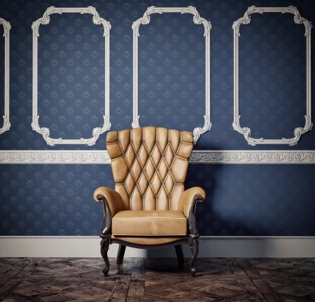 interior scene with vintage armchair