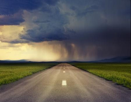 életmód: az út a vihar fénykép összeállítása A gabona és a textúra hozzá