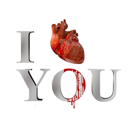 cynical: anatomical I love you  3D concept  Stock Photo