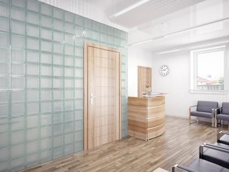 office furniture: A reception area -modern interior