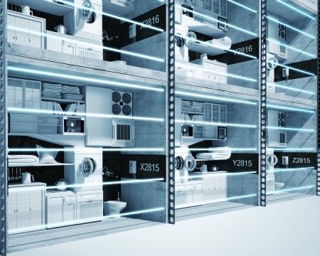 lazer: High resolution concept of  futuristic prison. Prison cells with lazer lattices.