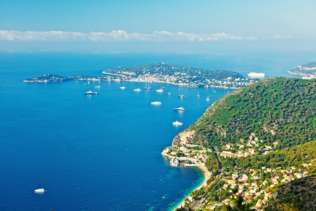 French riviera  turquoise sea and blue sky  photo