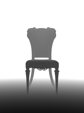 tone depth chair silhouette on gradient background photo