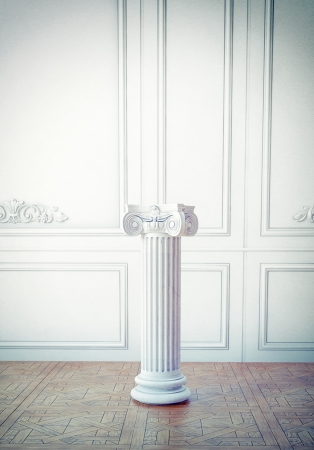classic interior l with column pedestal Stock Photo - 24372691