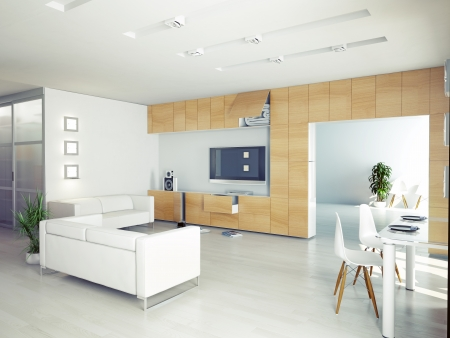 Modernen Wohnzimmer Innenraum. modernes Konzept Standard-Bild - 24387207