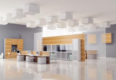 O design de interiores do escritório moderno Foto de archivo - 24387235