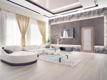 モダンなリビング ルームのインテリア デザイン