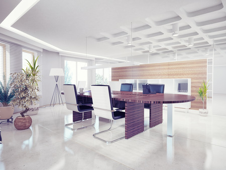interior architecture: modern office interior  design concept  Stock Photo