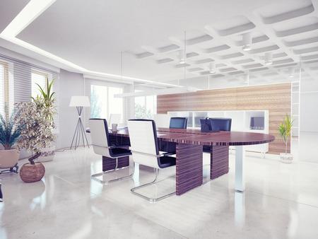 3d interior picture: modern office interior  design concept  Stock Photo