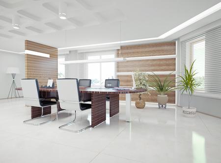 近代的なオフィスのインテリア デザインのコンセプト 写真素材