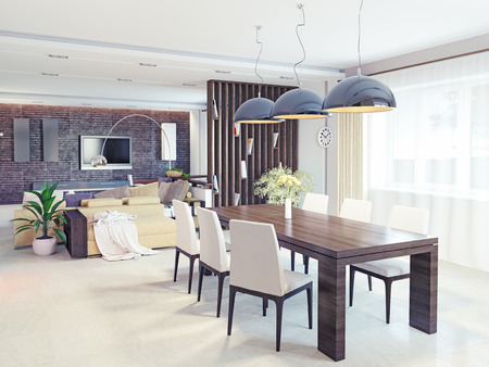 Modernes Interieur. CG Design-Konzept Standard-Bild - 27889031