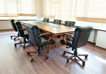 boardroom: conference table in modern office interior