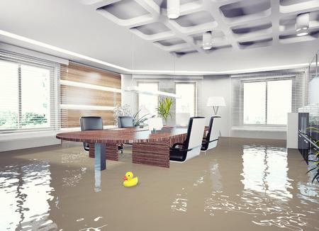 intérieur du bureau de l'inondation. 3d concept Banque d'images