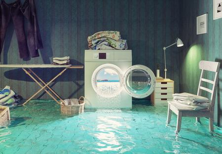 casalinga: sogni lavori domestici. 3d concept creativo. Archivio Fotografico