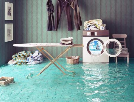 Sogni lavori domestici. 3d Concetto creativo. Archivio Fotografico - 44926040