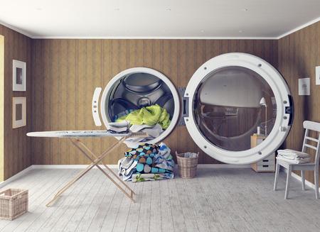 laundromat: the Big Wash. Creative concept